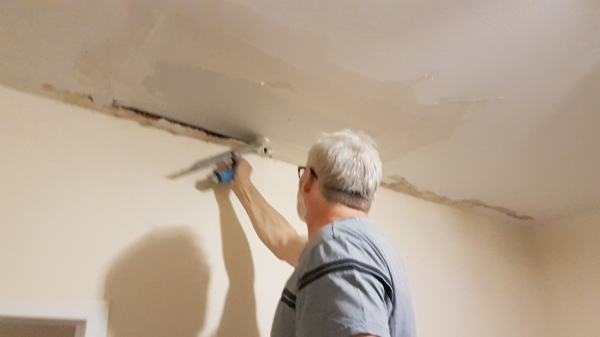 Drywall Repairs to water damaged areas